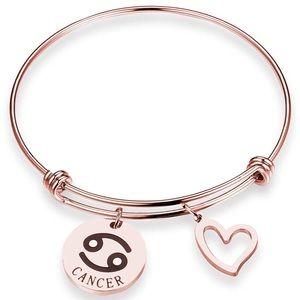 NWOT Stainless Steel Cancer Zodiac Bracelet